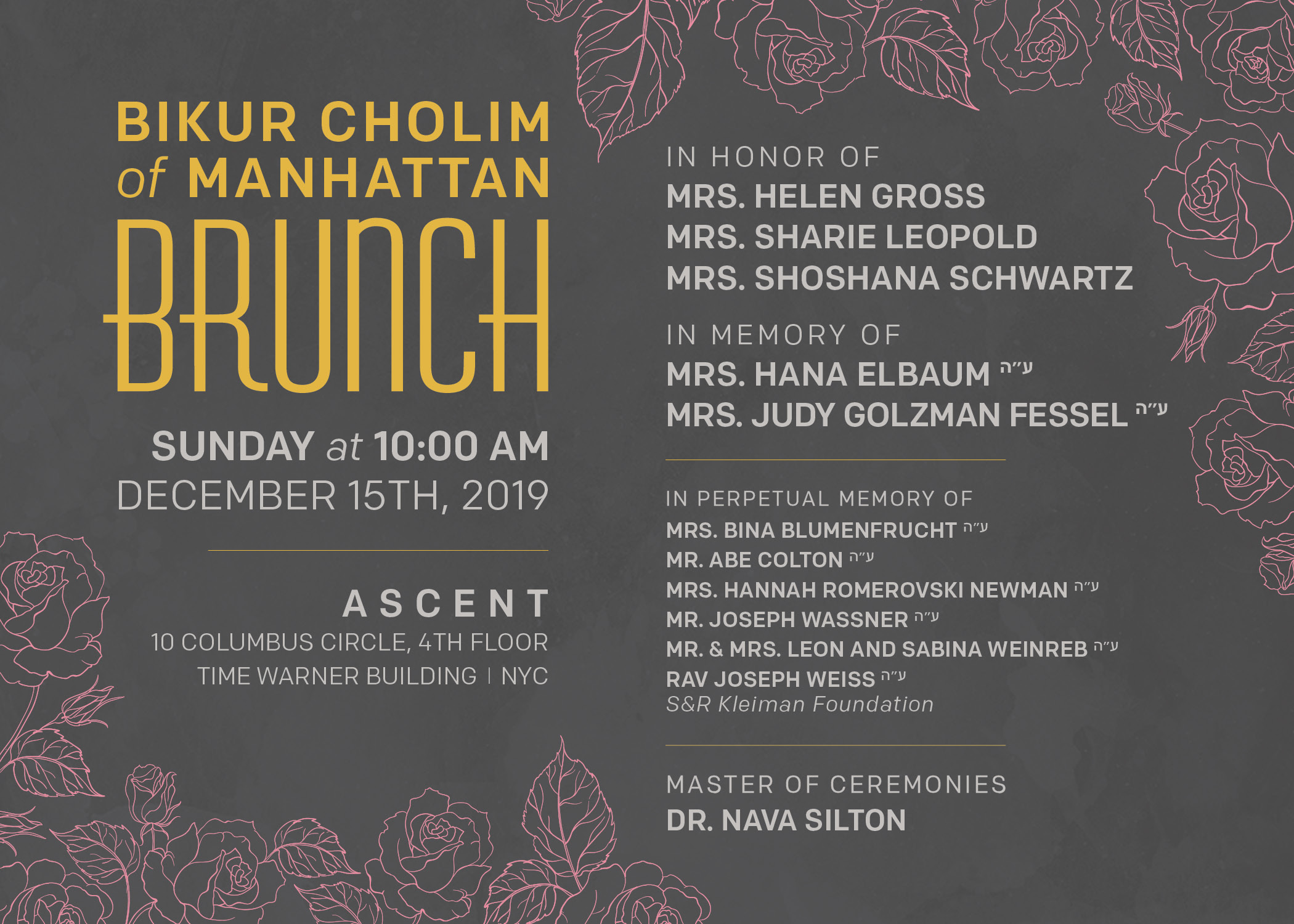 Bikur Cholim Brunch 2019